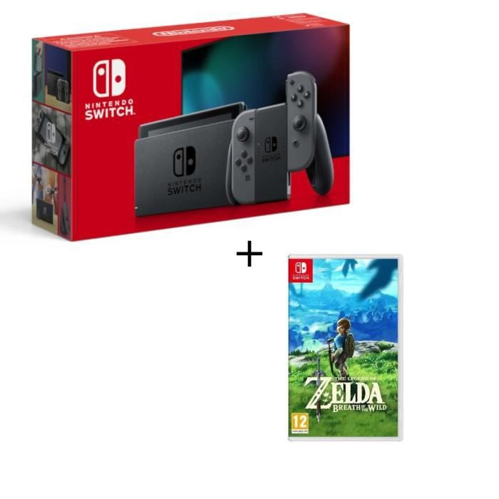 Console nintendo switch grise jeu the legend of zelda breath of the wild