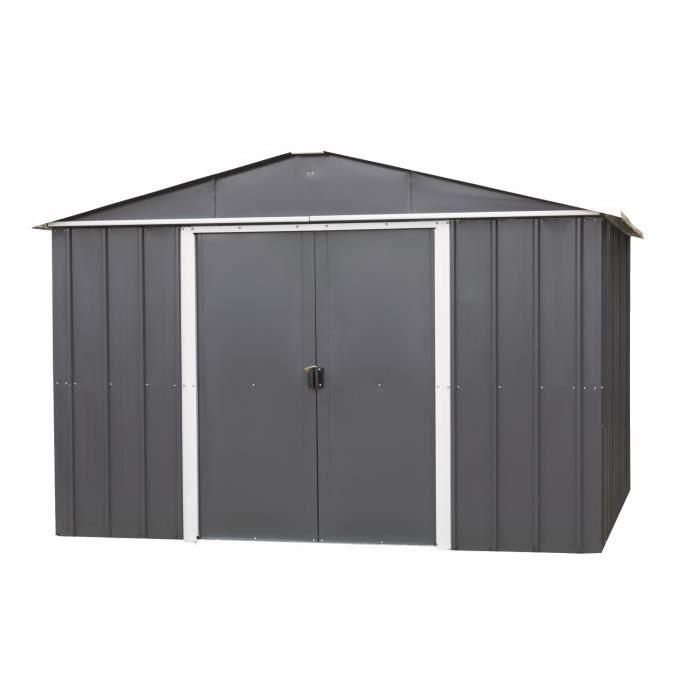 YARDMASTER Abri de jardin métal 4,77 m² - gris anthracite