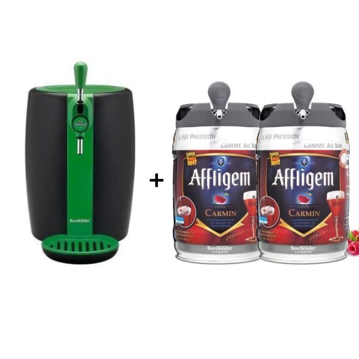 SEB VB310310 - Beertender Green Limited Edition + 2 fûts de bière belge aromatisée fruits rouges 5L