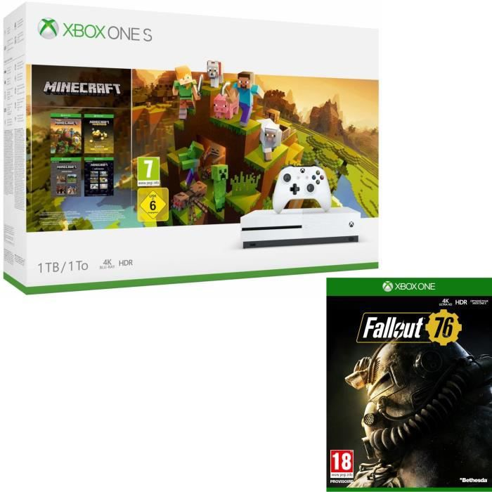 Xbox One S 1 To Minecraft Creators + Fallout 76