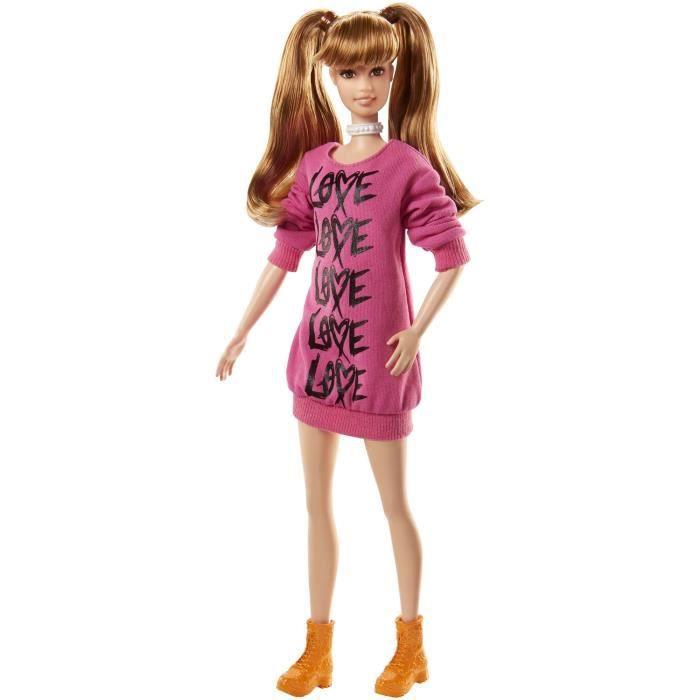BARBIE - Fashionistas 79 cŒurs - grande - Fille - A partir de 3 ans - Livré à l'unitéPOUPEE