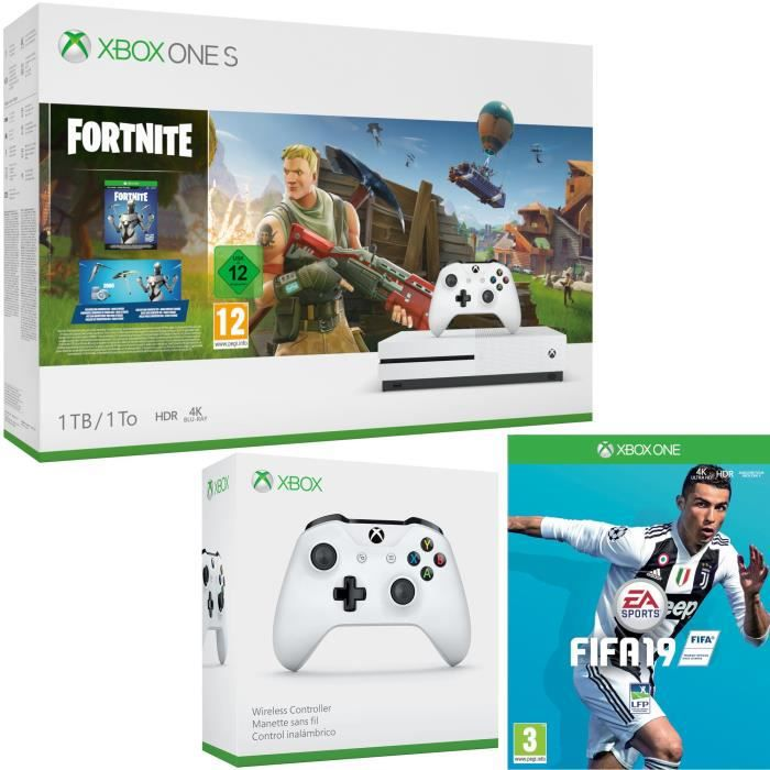 Xbox One S 1 To Fortnite + Fifa 19 + manette