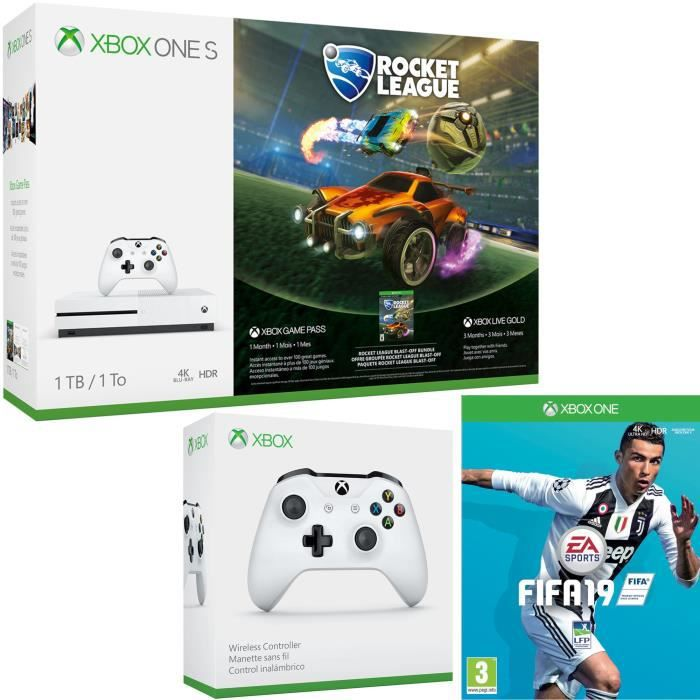 Xbox One S 1 To Rocket League + Fifa 19 + manette