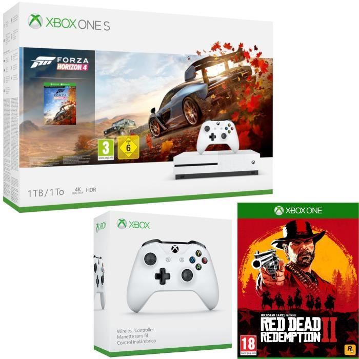 Xbox One S 1 To Forza Horizon 4 + Red Dead Redemption 2 + manette