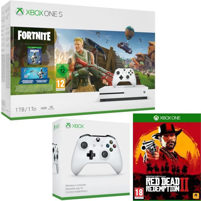 Xbox One S 1 To Fortnite + Red Dead Redemption 2 + manette