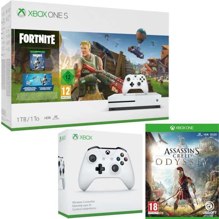 Xbox One S 1 To Fortnite + Assassin's Creed Odyssey + manette