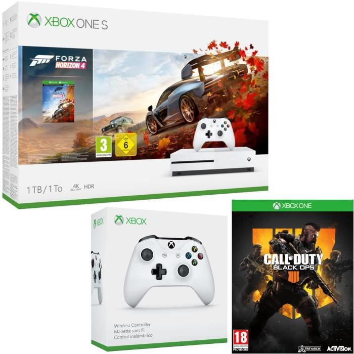 Xbox One S 1 To Forza Horizon 4 + Call of Duty Black Ops 4 + manette
