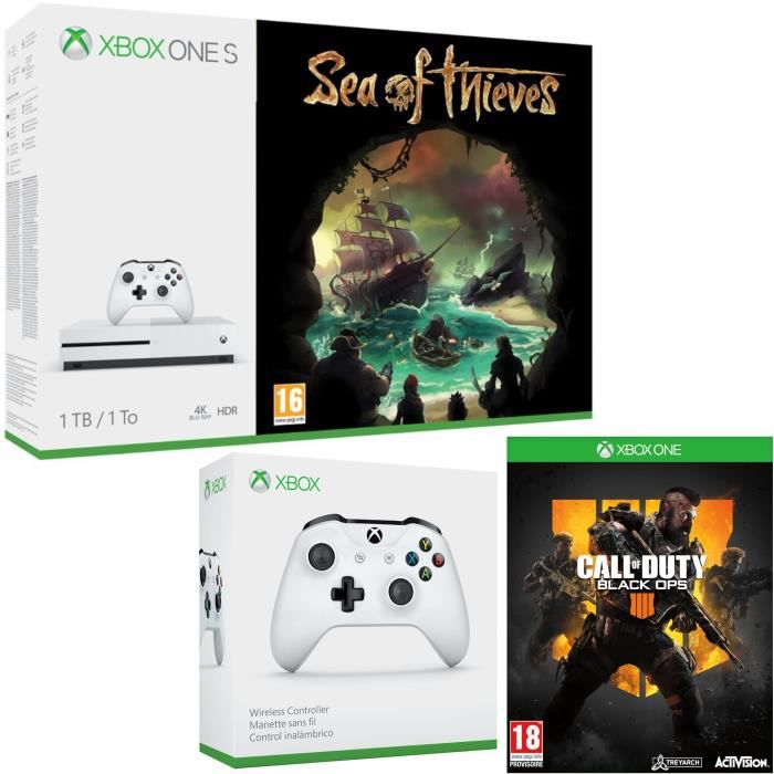 Xbox One S 1 To Sea of Thieves + Call of Duty Black Ops 4 + manette