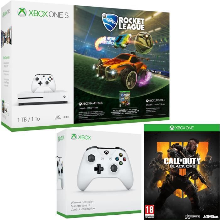 Xbox One S 1 To Rocket League + Call of Duty Black Ops 4 + manette