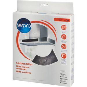 Wpro ARC201 Filtre de hotte ? charbon forme demi-lune - pour hottes Whirlpool AKR400-AKR404-AKR405