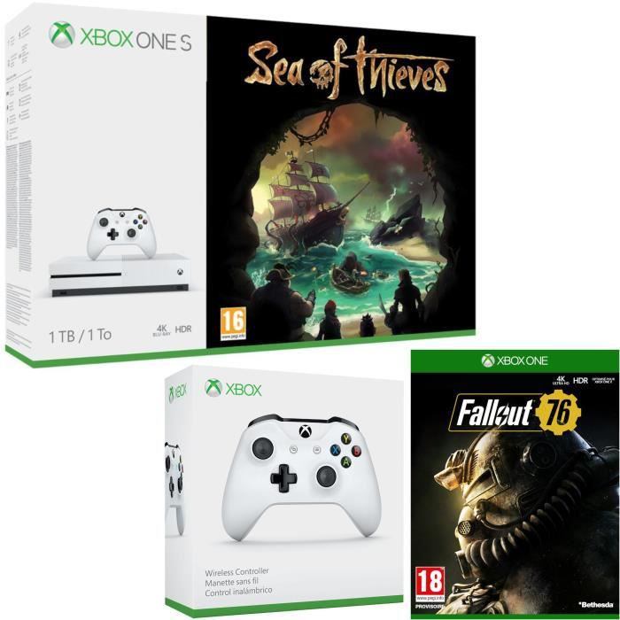 Xbox One S 1 To Sea of Thieves + Fallout 76 + manette