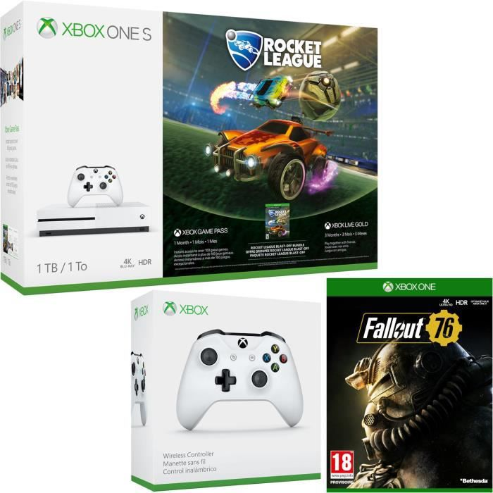 Xbox One S 1 To Rocket League + Fallout 76 + manette