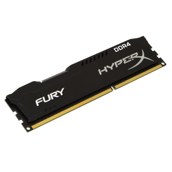 HYPERX Mémoire PC FURY Black - 4Go - DDR4 - 2666MHz - CL15 - DIMM