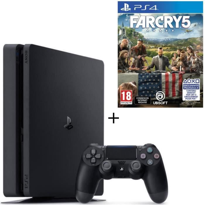 Pack PS4 500 Go + Far Cry 5 Jeu PS4