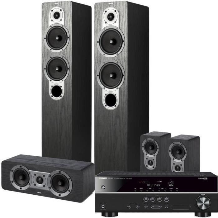 Pack YAMAHA HTR-2071 Amplificateur 5.1 4K UHD + JAMO S 426HCS3 Système d'enceintes Home Cinema 5.0