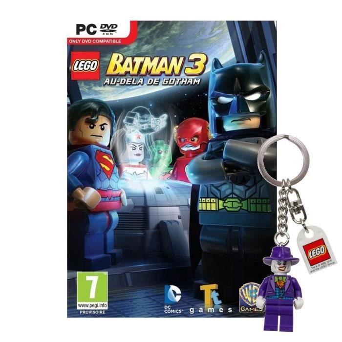 Lego Batman 3 Au Delà de Gotham Jeu PC + Porte-clé
