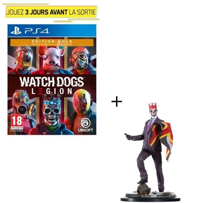 Pack PS4 : Watch Dogs Legion Édition Gold + Figurine Watch Dogs Legion : Resistant of London