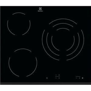 ELECTROLUX EHV6232FOK Table de cuisson vitrocéramique- 3 foyers - 5700W - L59 x P52cm - Rev?tement verre - Noir