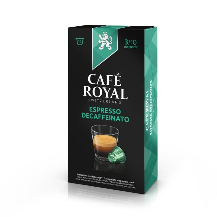 10 capsules de café Royal Decaffeinato 100% Arabica CAFÉ ROYAL