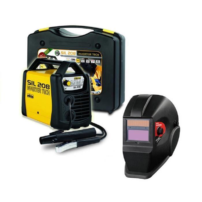 DECA Poste à souder Inverter 80 A SIL 208 avec cagoule LCD DIN11 et 20 électrodes