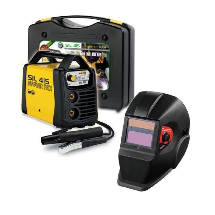 DECA Poste à souder Inverter 150 A SIL 415 avec cagoule LCD DIN11 et 20 électrodes