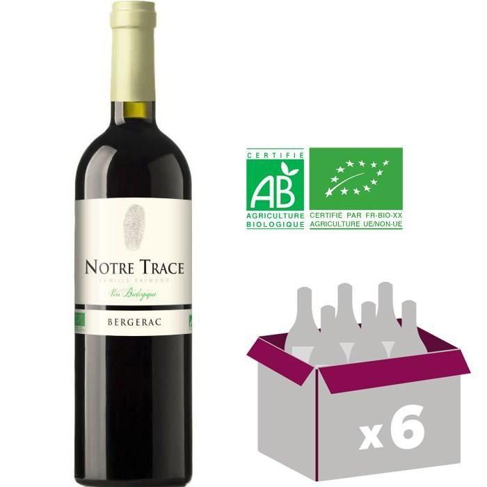 NOTRE TRACE 2016 Vin rouge - BIO - 75 cl x6 - AOP