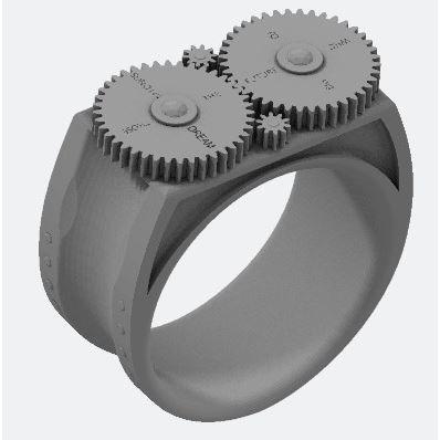 Design de Jaylg23. Personnalisez par impression 3D votre bague Kinectic, et créez un bijou uniqueBAGUE - ANNEAU