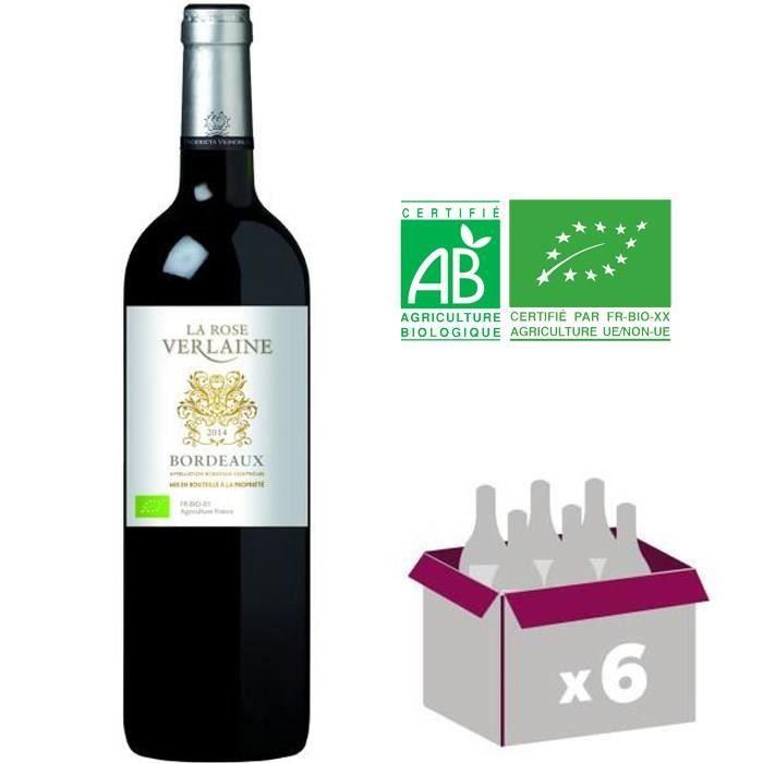 La Rose Verlaine - Bordeaux - 2014 - Vin rouge x6VIN ROUGE