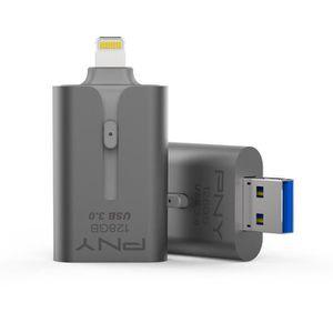 PNY Clé USB - APPLE - 128Go - USB 3.0 - Pour iPhone et iPad - Gris Sidéral
