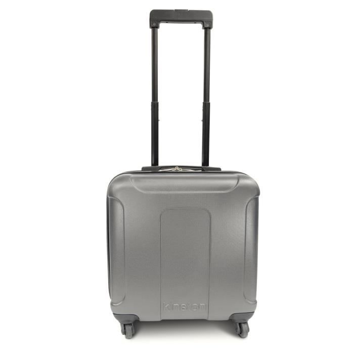 KINSTON Valise Cabine Low Cost Rigide ABS 4 Roues 46 cm Gris
