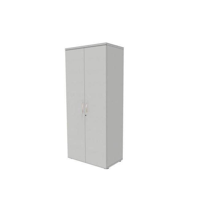 Armoire haute 2 portes - Coloris blanc - L80xH180xP47cm - 4 tablettes/5 niveauxARMOIRE DE BUREAU