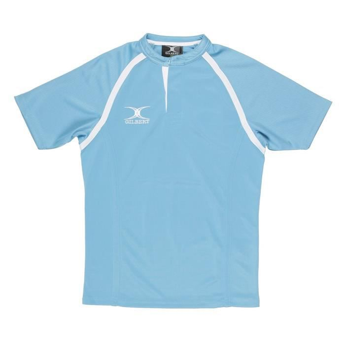 GILBERT Maillot de rugby SHIRT XACT II - Adulte - Bleu ciel