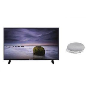 Kit CONTINENTAL EDISON TV LED Full HD Smart 121 cm (48??) + GOOGLE Home Mini FR