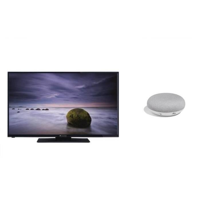 Kit continental edison tv led full hd smart 100 cm 39 google home mini fr