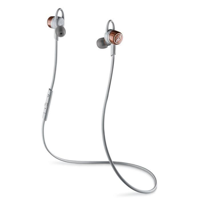 PLANTRONICS BACKBEAT GO 3 Ecouteurs intra-auriculaires Bluetooth Gris et cuivre - Commandes et micro intégrés