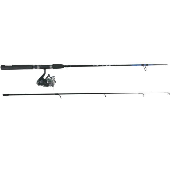 Canne à pêche combo lancer - 2 Brins - Verre creux - 1,80 m