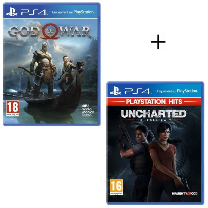 Offre Duo : Uncharted The Lost Legacy PlayStation Hits + God of War