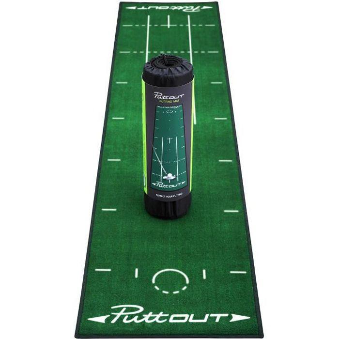 PUTTOUT Tapis de putting de golf PRO - Vert