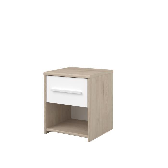 LIAM Chevet enfant 1 tiroir et 1 niche - décor chêne...