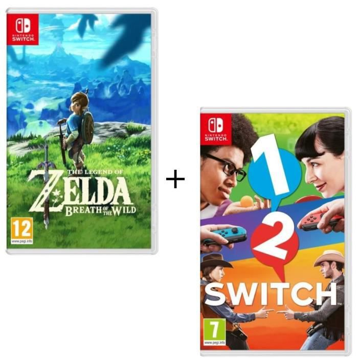 Pack 2 jeux Switch : The Legend of Zelda : Breath of the Wild + 1-2-Switch