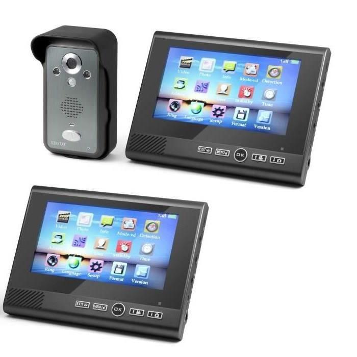 TECHNAXX Visiophone sans fil TX-59 avec 2 moniteurs couleur TFT LCD 7\