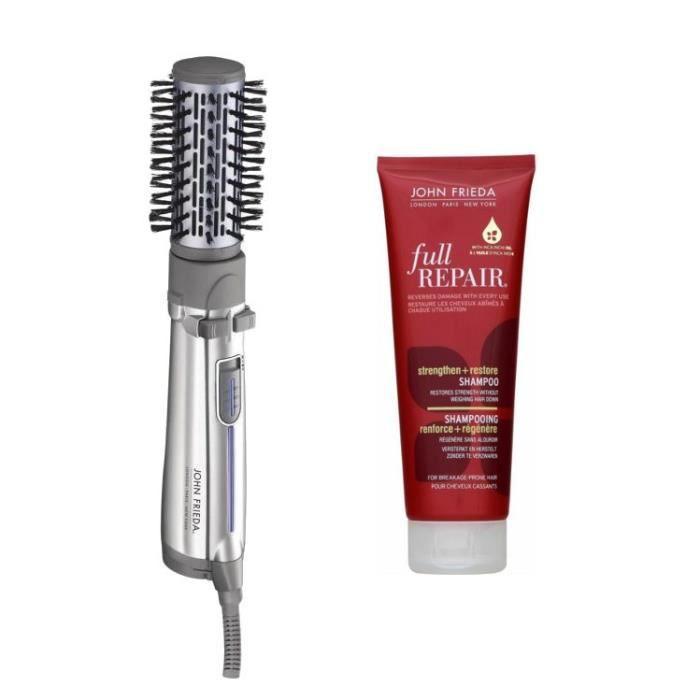 Pack JOHN FRIEDA : Brosse soufflante Volume Shine 2778JFE + Shampoing Full Repair - 250ml