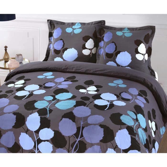 Matière : 100% coton 57 fils - Dimensions : 240x260 cm/ 65x65 cm - Coloris : bleu nuitPARURE DE COUETTE