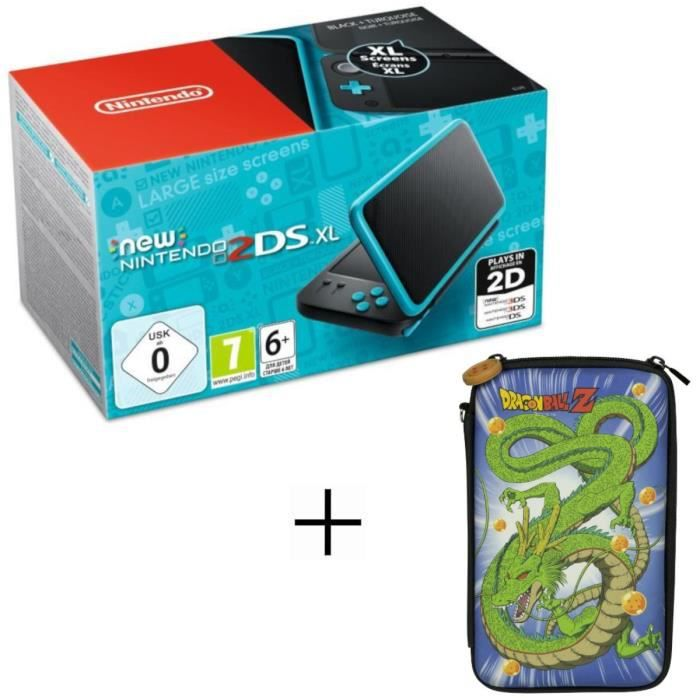 New 2DS XL Noire et Turquoise + Housse Konix Dragon Ball Z