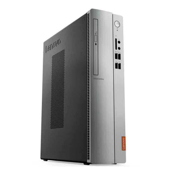 Unité Centrale - LENOVO Ideacentre 510S-08IKL - Pentium G4560 - RAM 4Go - Disque Dur 1To + 128Go SSD - Windows 10