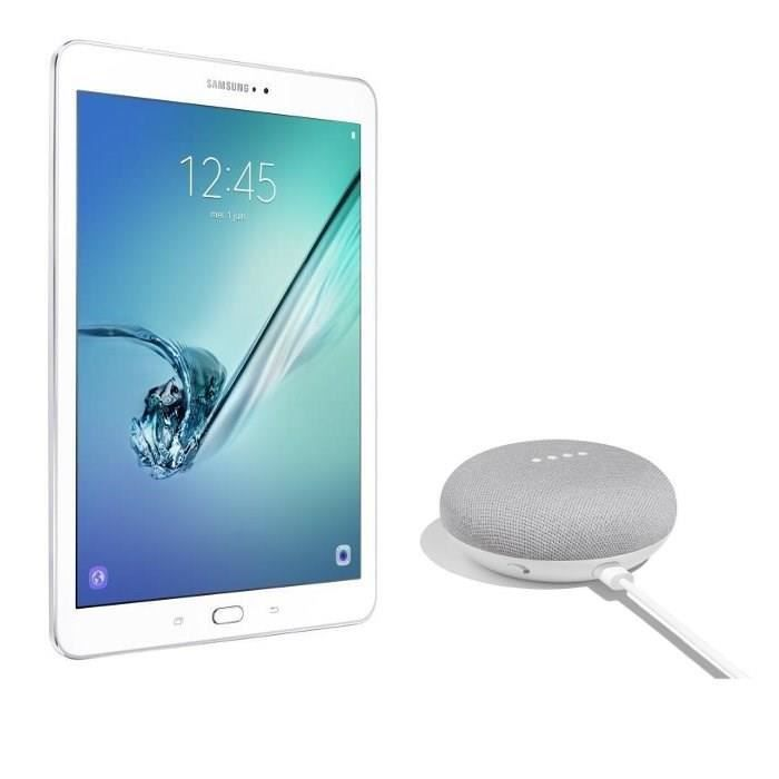 SAMSUNG Galaxy Tab S2 - SM-T813NZWEXEF - 9,7'' QXGA - RAM 3Go - Android 6.0 - Octo Core - Stockage 64Go - WiFi + GOOGLE Home Mini