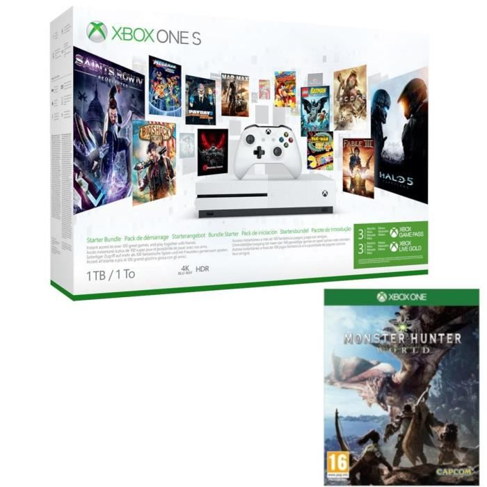 Xbox One S 1 To Game Pass + Monster Hunter World