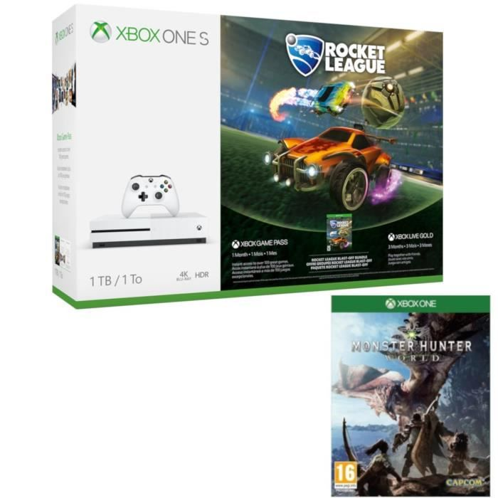 Xbox One S 1 To Rocket League + Monster Hunter World