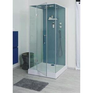 Cabine de douche sans silicone Bria 100x90cm