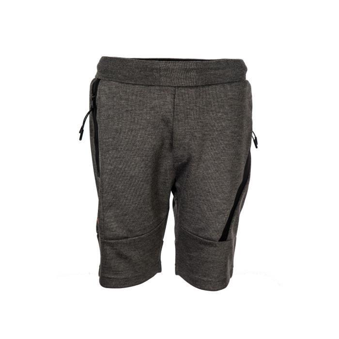 REDSKINS - Short Jogging Gris Anthracite - Enfant Garçon